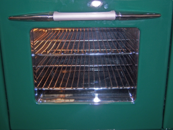 One of 2 Ovens with Windows and Lights