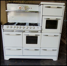 The Reagan Stove at the Stove Shop ready for restoration