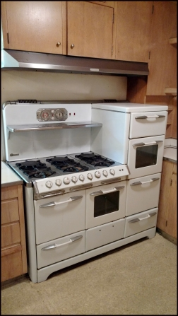 Nancy and President Ronald Reagan's stove in their Bel Air, California home.